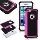 Apple iPhone 5C Colorful Heavy Duty Hybrid Rugged Hard/Soft Matte Cover Case(COLOR  ROSE