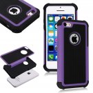Apple iPhone 5C Colorful Heavy Duty Hybrid Rugged Hard/Soft Matte Cover Case(COLOR  PURPLE