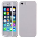 TPU Wrap Up Flip Case Cover w/ Built in TOUCH Screen Protector for iPhone 5 5S( COLOR WHITE