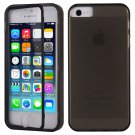 TPU Wrap Up Flip Case Cover w/ Built in TOUCH Screen Protector for iPhone 5 5S( COLOR CLEAR BLACK