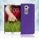 Snap on Hard PC Back Case Cover Skin Protective For LG G2(COLOR PURPLE