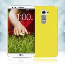 Snap on Hard PC Back Case Cover Skin Protective For LG G2(COLOR YELLOW