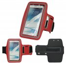 Sport Running Armband Holder Case Cover For Samsung Galaxy Note II 2 N7100 (COLOR RED