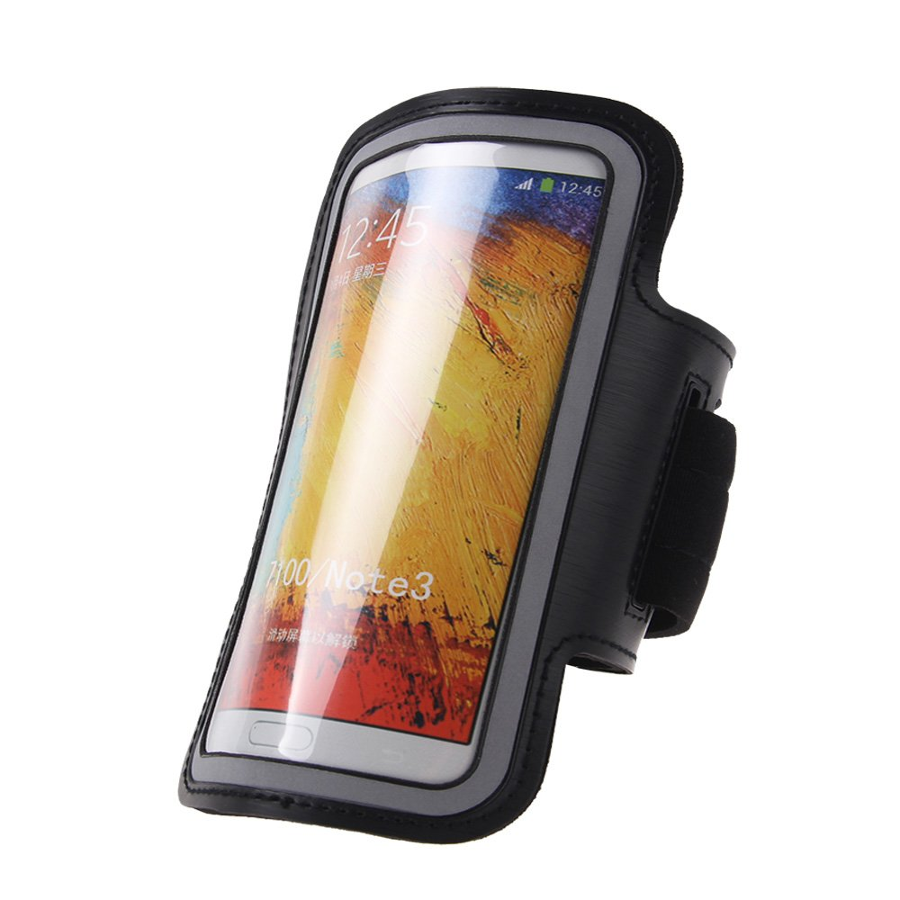 Sport Running Armband Holder Case Cover For Samsung Galaxy Note II 2 N7100 (COLOR BLACK