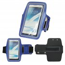 Sport Running Armband Holder Case Cover For Samsung Galaxy Note II 2 N7100 (COLOR BLUE
