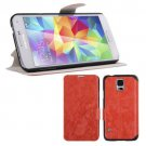 Magnetic Flip PU Leather Case Stand Cover Skin Pouch for Samsung Galaxy S5 G900 (COLOR ORANGE