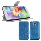 Magnetic Flip PU Leather Case Stand Cover Skin Pouch for Samsung Galaxy S5 G900 (COLOR BLUE