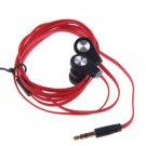 3.5mm Headphone Earphone Earbuds Headset for Samsung iPhone 5 5S iPod MP3 MP4 PC ( COLOR RED