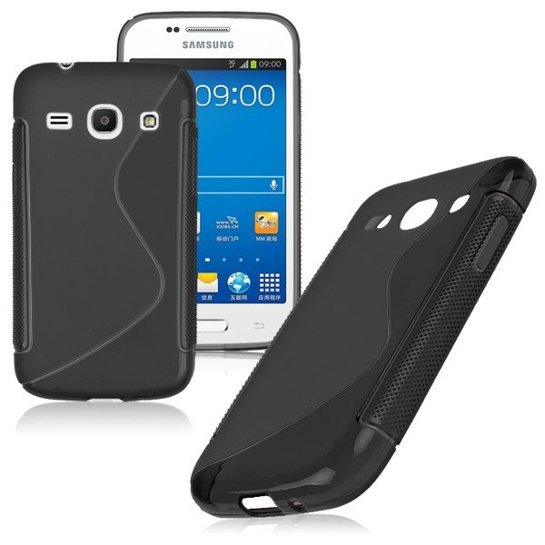 S-Line Soft TPU Case Cover Skin For Samsung Galaxy ( COLOR BLACK