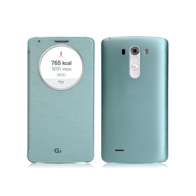 Quick Circle Smart Window View Slim Wallet Flip Smart Case Cover for LG G3  (COLOR BLUE