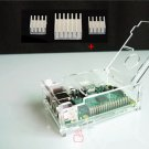 Transparent Clear Acrylic Case Box + 3* Heatsink for Raspberry Pi Model B+ Plus
