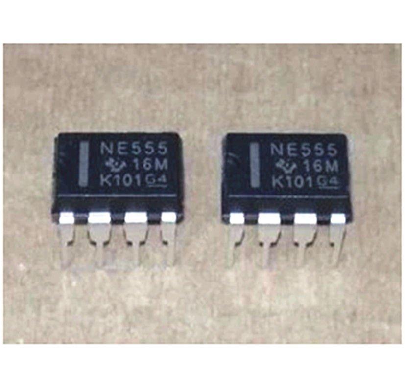 10PCS NE555P NE555 DIP-8 SINGLE BIPOLAR TIMERS IC