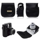 PU LEATHER CAMERA CASE COVER SHOULDER BAG For Fuji Fujifilm Instax Mini8(color black