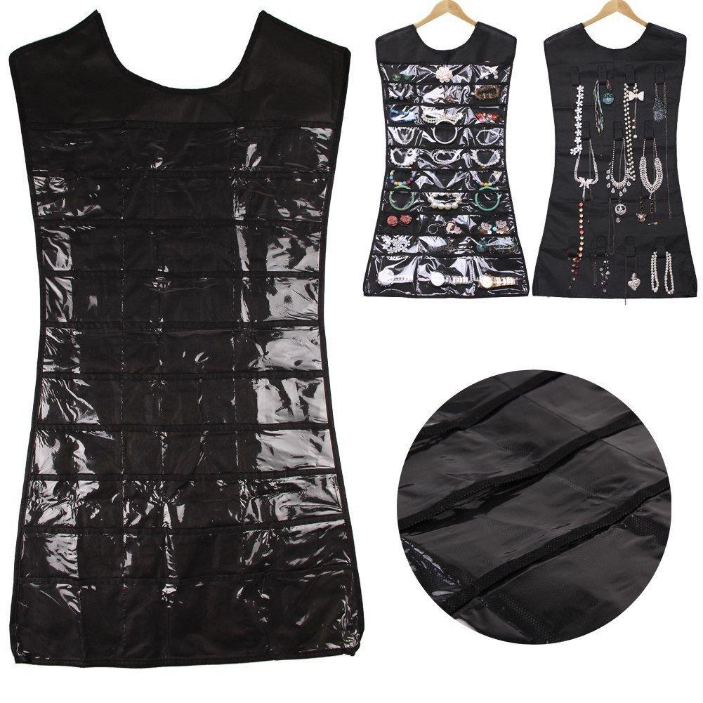 Dress Hanging Jewelry Brooch Bag Closet Display Organiser Holder Storage Newest(black