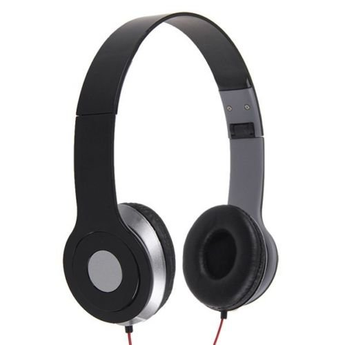 3.5mm Headphone Earphone Earbuds Headset Stereo fr iPhone iPod MP3 MP4 PC Tablet( color black