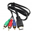 HDMI TO 3-RCA AV AUDIO VIDEO COMPONENT CONVERT CABLE MM
