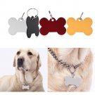 1X Engravable Custom Personalized Pet ID Tags Dog Cat Animal Name Bone Tag w/ Ring