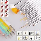 20pcs Nail Art Design Set Painting Drawing Polish Brush Decoration Pen Tools