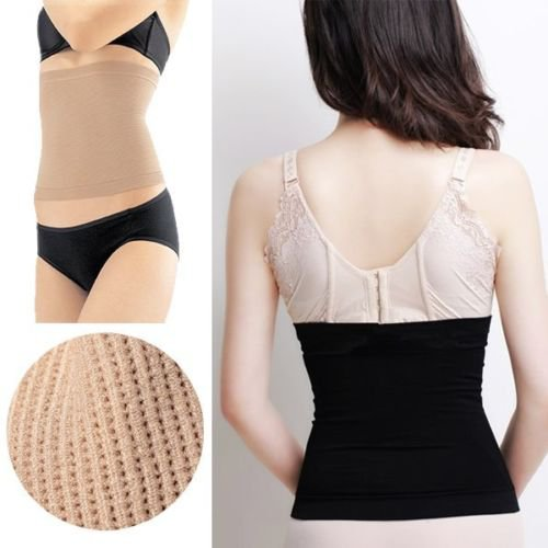 Invisible Tummy Waist Trimmer Body Shaper Slim Belt Fat Weight Loss Fit Exercise(COLOR BLACK