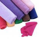 10pcs Square Microfiber Polishing Scrubing Car Cleaning Hand Towel Washcloth New
