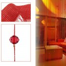 Beaded String Curtain Door Divider Crystal Beads Tassel Screen Panel Home Decor(color red