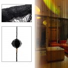 Beaded String Curtain Door Divider Crystal Beads Tassel Screen Panel Home Decor(color  black