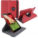 """360 Rotating Folio Leather Case Cover Stand for LG G Pad Gpad 8.3"""" V500 Tablet( color red"""