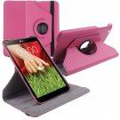 "360 Rotating Folio Leather Case Cover Stand for LG G Pad Gpad 8.3"" V500 Tablet( color rose"