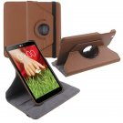 "360 Rotating Folio Leather Case Cover Stand for LG G Pad Gpad 8.3"" V500 Tablet( color  brown"