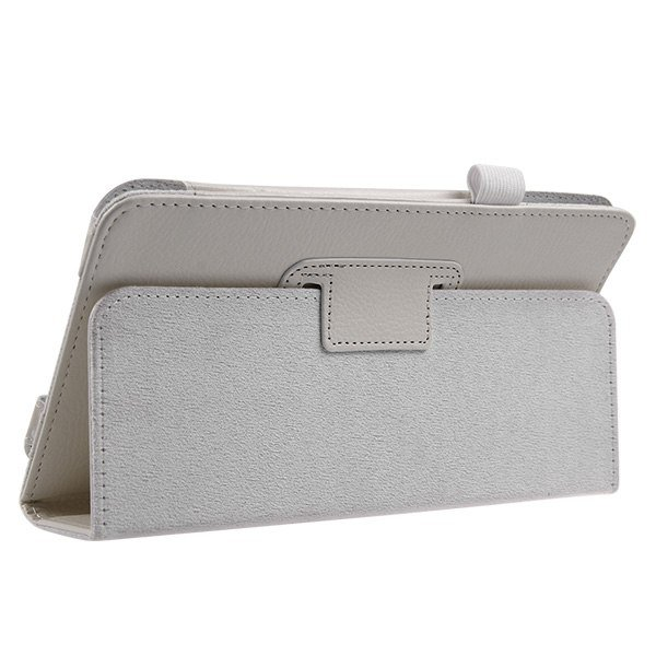 """PU Leather Folding Stand Flip Case Cover for Samsung Galaxy Tab 4 8"""" T330( color white"""