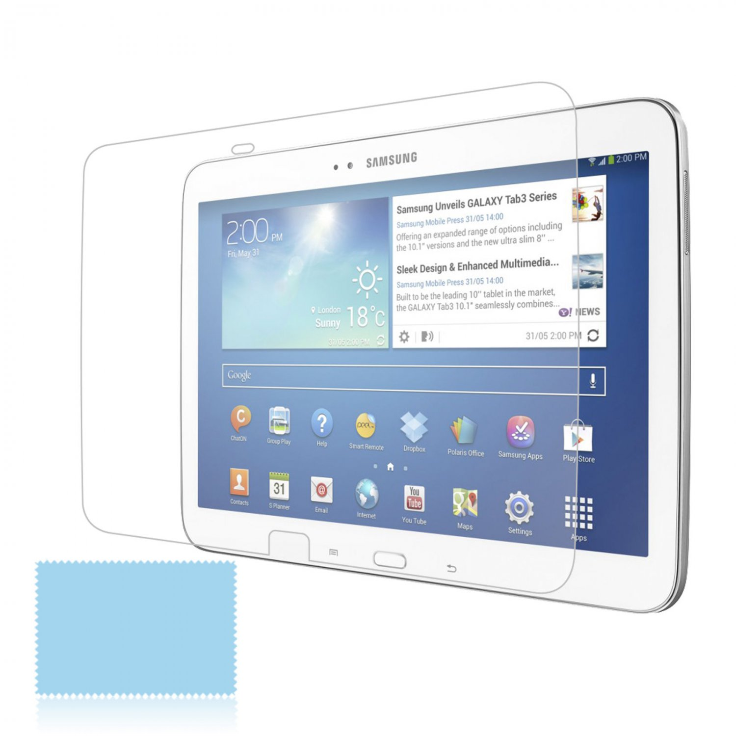 """1x Clear LCD Screen Protector Cover Guard for Samsung Galaxy Tab 3 10.1"""" P5200"""
