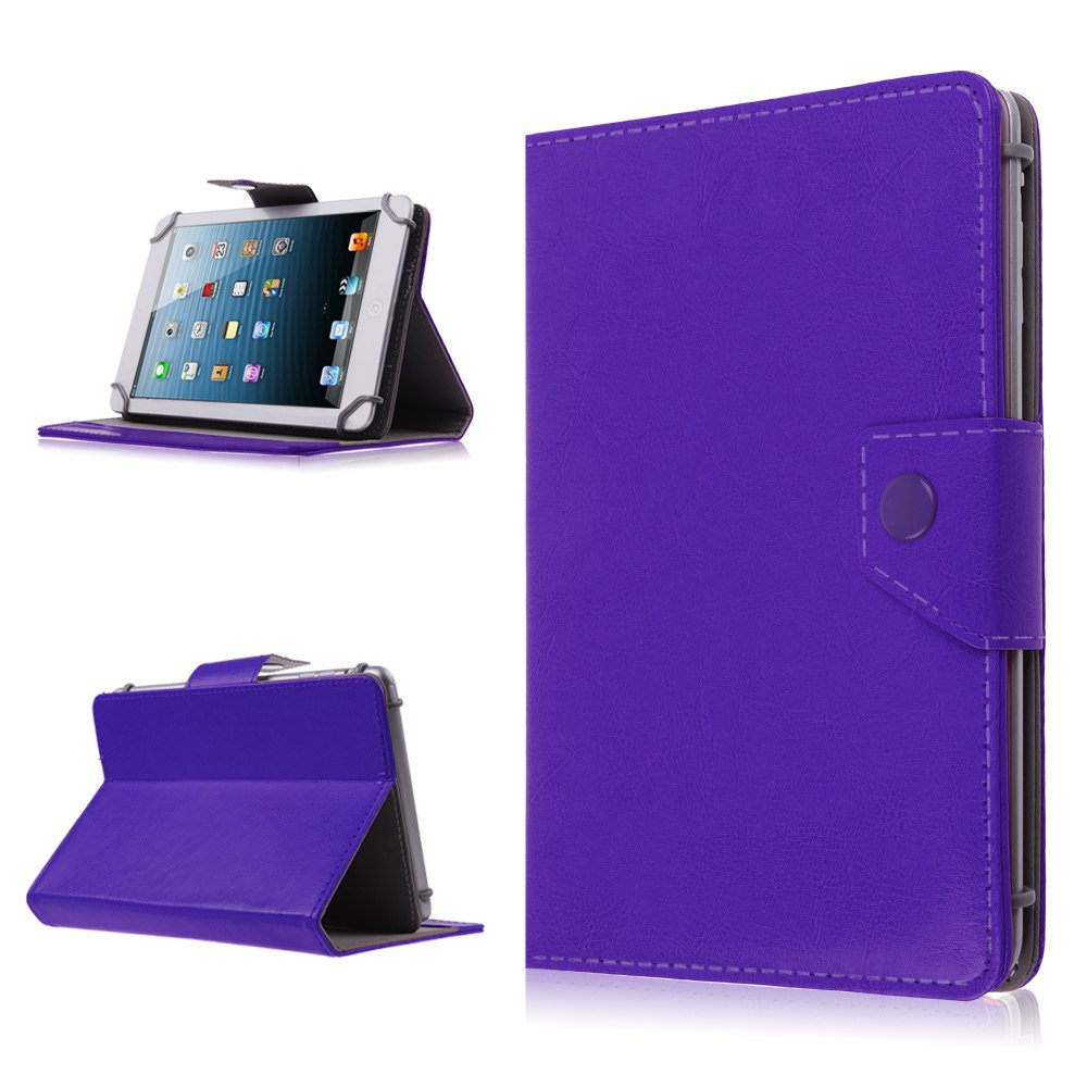 "Magnetic Folio PU Leather Case Cover Stand for 7"" inch Android Tablet PC MID PDA (color  purple"