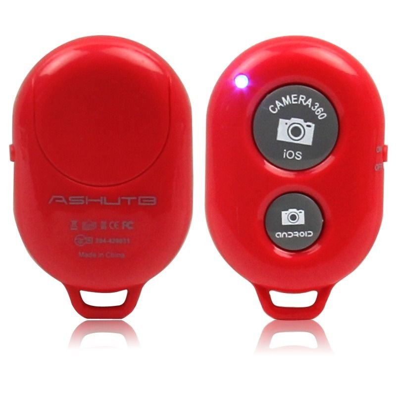 Wireless Bluetooth Camera Remote Control Selfie Shutter For iPhone Samsung Phone(COLOR RED