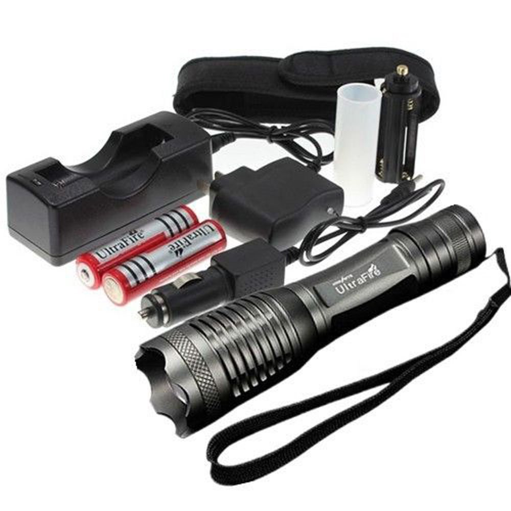 UltraFire 2200LM CREE XML T6 LED Flashlight Torch Rechargable Zoom 18650+CH SET
