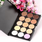 15 Colors Makeup Neutral Face Eye shadow Camouflage Cosmetic Concealer Palette AS3