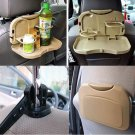 Cup Stand Holder Food Meal Drink Tray Desk Dining Table Foldable Auto Car( COLOR BEIGE