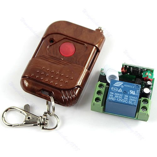 12V Signal Fixed Channel Wireless Remote Encoding Control Switch