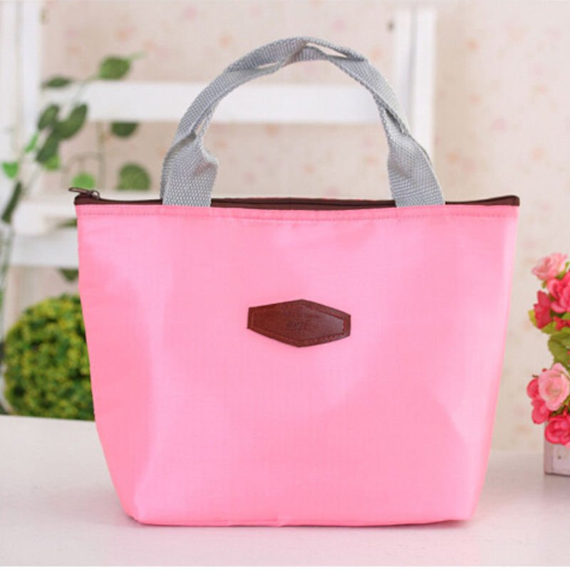 Thermal Outdoor Waterproof Warmth Lunch Box Storage Picnic Bag Pouch Portable ( color pink