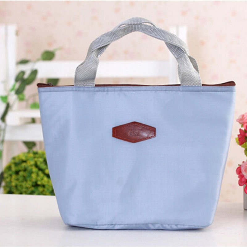 Thermal Outdoor Waterproof Warmth Lunch Box Storage Picnic Bag Pouch Portable ( color gray