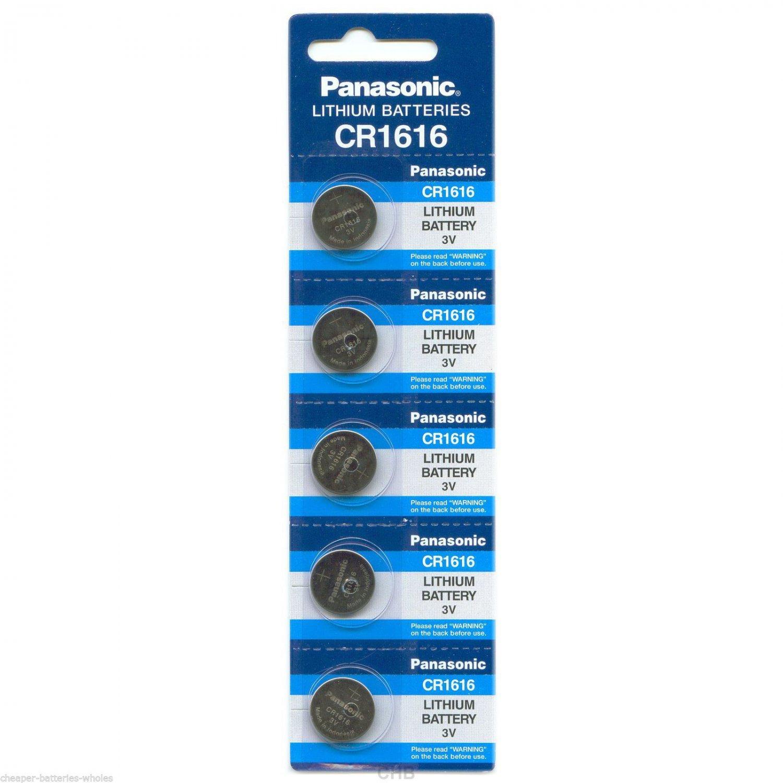 5 PANASONIC CR1616 ECR1616 CR 1616 3v Lithium battery