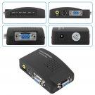 PC Laptop Composite AV/S Video To VGA TV Converter Monitor Adapter Switch Box
