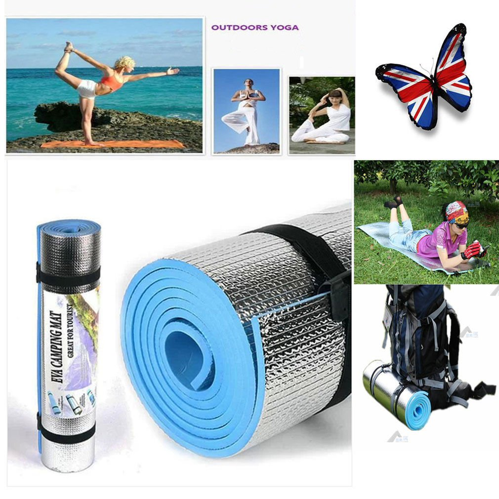 BLUE 180 * 60cm * 6mm Thick Mat Pad for Exercise, Fitness & Yoga