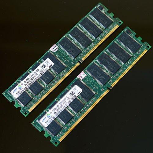Samsung 2GB (2x 1GB ) DDR400 PC3200 400MHZ CL3 Desktop memory RAM 184PIN Chipset