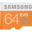 SAMSUNG MICRO SDXC EVO 64GB 48MB 64G 64 G GB MICRO SD UHS-1 C10 MEMORY CARD
