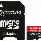 TRANSCEND MICRO SDHC 45MB 32GB UHS-I U1 CLASS 10 300X PREMIUM 32G 32 G GB SD NEW