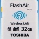 TOSHIBA SDHC FLASHAIR WIFI Class 10 32GB 32G 32 G GB SD HC WIRELESS MEMORY CARD
