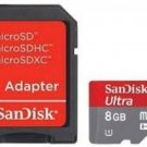 SANDISK MOBILE ULTRA CLASS 10 8GB MICRO SDHC SD 8G MEMORY UHS-I U1 ANDROID APP