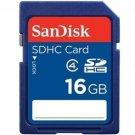 SANDISK SD HC SDHC 16GB 16G 16 G GB FLASH MEMORY CARD