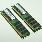 2GB 2x1GB PC3200 DDR400 400Mhz Non-ECC 184pin DIMM Low Density Desktop Memory