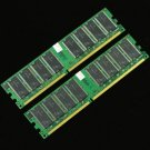 Low-Density 2GB 2x 1GB DDR266 PC2100 266MHZ Memory DIMM 64Mx8 CL3 184PIN RAM